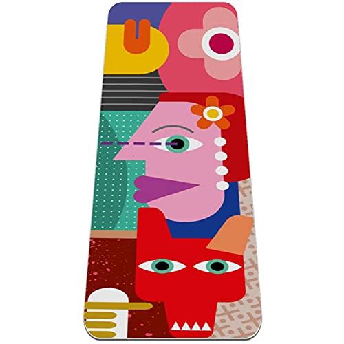 Colchoneta de Yoga Esterilla Yoga Material medioambiental TPE,Músico abstracto colorido ,Espesor:6milímetros,8milímetros,Tapete de Deporte Grande y Antideslizante,Correas y Mochilas como Regalos