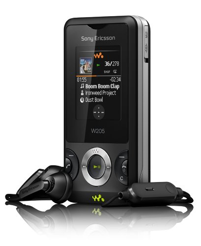Sony Ericsson W205 ambient Handy (MP3, 1.3 MP, Radio) Black
