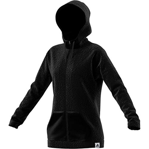 adidas Women's Brillant Basics Hooded Track Top, Black, L