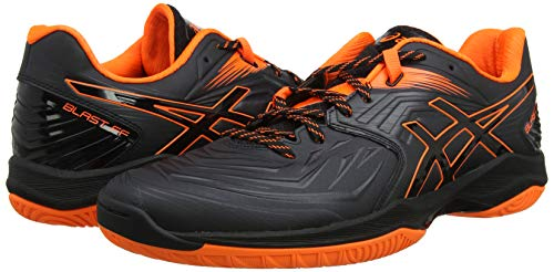 ASICS Herren Blast FF Handballschuhe, Schwarz (Black/Shocking Orange 001), 45 EU - 4