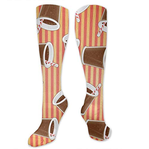 CHENQIAN Cup Coke Persönlichkeit Lustiges Muster Herren und Damen Knie Warme Hohe Socken für Kleid Cosplaying Bequeme Crew Socken Geschenke, Kompressionssocken, Sportsocken