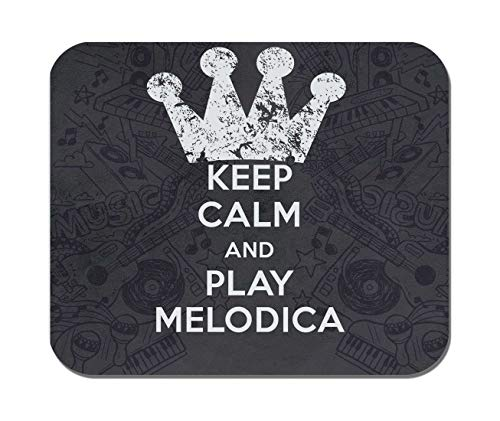 Makoroni - Keep Calm and Play Melodica - Non-Slip Rubber - Computer, Gaming, Office Mousepad