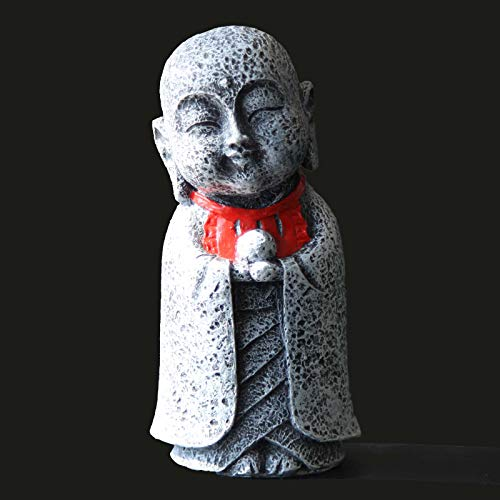 Carefree Fish Aquarium Stone Buddha Decoration Fish Tank Cute Japanese Tibetan Monk Decor Waterproof Paint
