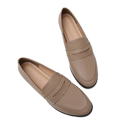 Frauen Mary Jane Schuhe Vintage Brogues Runde Zehen Oxford Schuhe Simple Style Kleid Schuhe Casual Slip-on Court Schuhe
