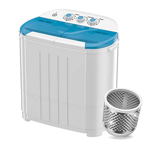 Auertech Mini Washing Machine, Portable Twin Tub Washer Compact Laundry Machine Dryer with Built-in Gravity Drain Time Control, 9lbs Washer...