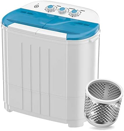 Auertech Mini Washing Machine Portable Twin Tub Washer Compact Laundry Machine Dryer with Built product image