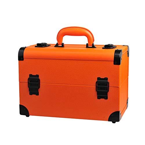Cosmetic Cases Make-up Organizer Box, Beauty Storage, Verstellbare Trennwände, Train Case Vanity Box, Mit Abschließbaren Schlüsseln
