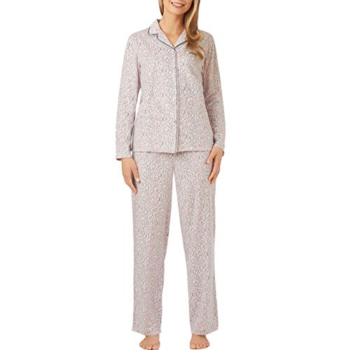 Aria Ladies' 2-piece Pajama Set (Medium, Pink Animal Print)