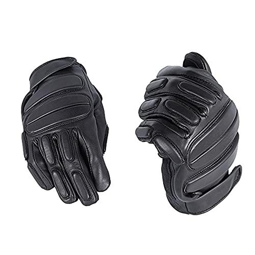 TacFirst Einsatzhandschuhe SEK 1 H006, 360° schnitthemmende Polizei, Security Handschuhe, Schwarz, 3XL