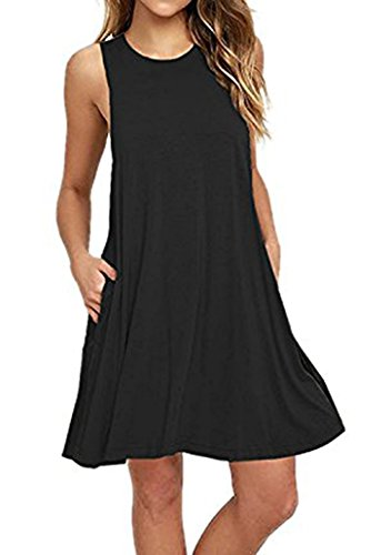 baratos y buenos Vestidos V-Toto de mujer, vestidos camiseta, bañadores sin mangas de mujer, moda de verano… calidad