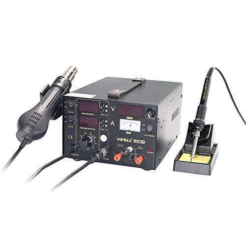 002fr YIHUA-853D 45W Bleifreies Schweißen Digitalanzeige Lötkolbenstation, schwarz