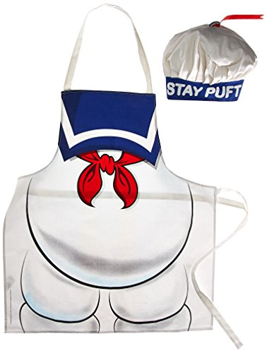 Ghostbusters Stay Puft Tablier et Chapeau de Chef