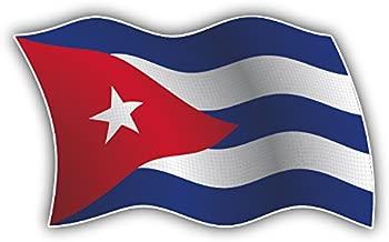 Cuba Wavy Flag Pegatina de Vinilo Para la Decoracion del Vehiculo 12 X 8 cm