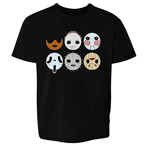 Horror Masks Monster Scary Movie Halloween Costume Black 4T Toddler Kids Girl Boy T-Shirt
