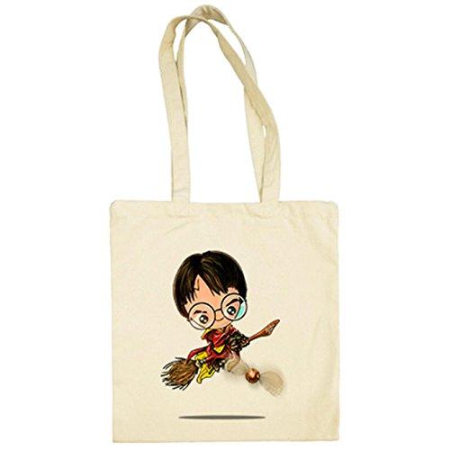 Bolsa tela Chibi Kawaii Harry Potter Quidditch parodia