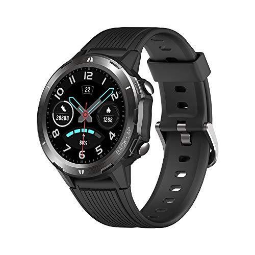 KUNGIX Smartwatch, Reloj Inteligente Hombre Mujer con Pulsómetro, Cronómetros, Calorías, Monitor de Sueño, Pulsera Actividad Impermeable 5ATM Reloj Deportivo y 12 Modos Deportivos para Android iOS