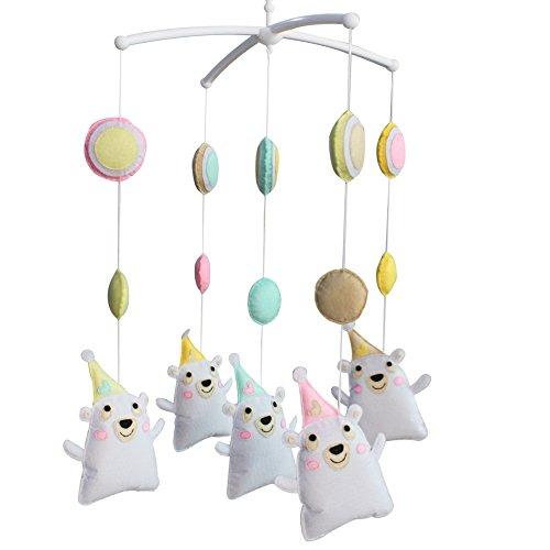 Berceau de lit de bébé rotatif coloré jouets de bébé [Ours dansant]