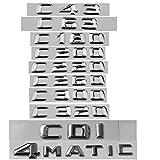 C63 C43 C55 AMG C180 C200 C220 C300 C320 C350 4MATIC CDI Emblemas de letras cromadas (C320)