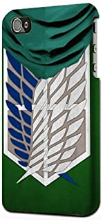 Attack on Titan Survey Corps Cloak Plastic Snap on Case Cover Compatible with Apple iPhone 4 and 4s