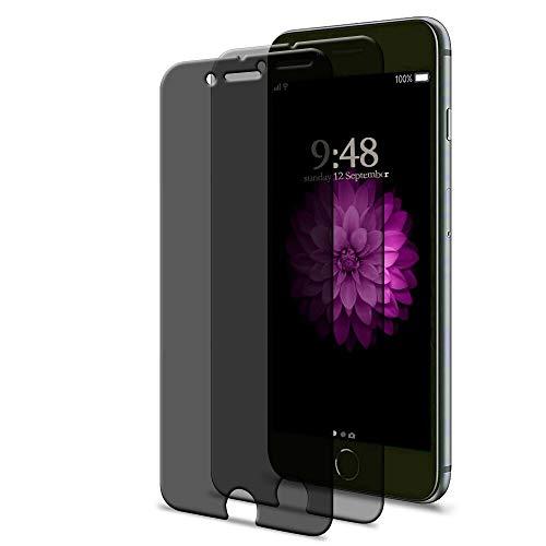 [2 Pack] iPhone 6 Plus / 6s Plus Privacy Screen Protector, GPROVA [Anti Spy][Anti-Glare][Anti-Fingerprint][Anti-Scratch] No Bubble Ballistic Tempered Glass HD 2.5D Curve Edge Screen Protector 5.5