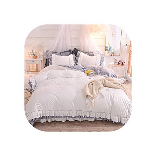 DAWN&ROSE Super zacht kristal fluwelen beddengoed set queen comforter sets Princess stijl bed set twin full queen king size bed rok set 4/6 stks