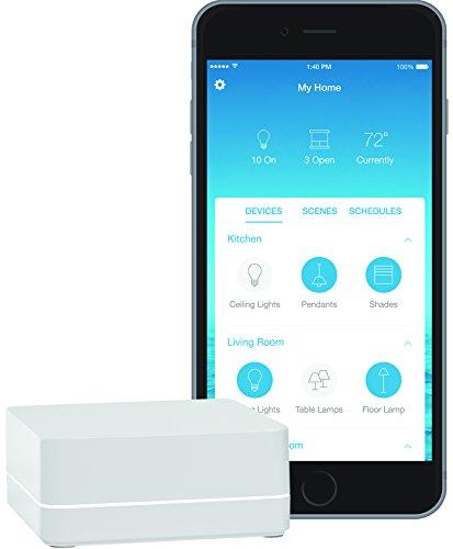 Lutron Caseta Wireless Smart Bridge   Works with Alexa, Apple HomeKit, and the Google Assistant   L-BDG2-WH   White