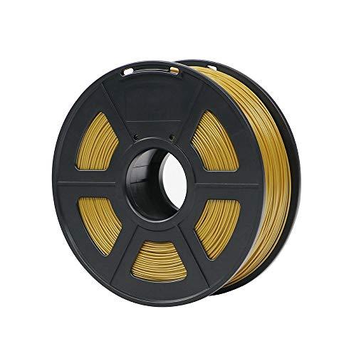 NO LOGO ZFX-3DHAOCAI, Plastica del filamento 1.75mm di PLA for Stampante 3D 1kg / Rotolo Materiali di consumo di Gomma facoltativi di Colori di 28 Colori for Stampare (Color : Gold)