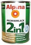 ALPINA 2in1 Buntlack & Grundierung 500 ml Caramel, Seidenmatt