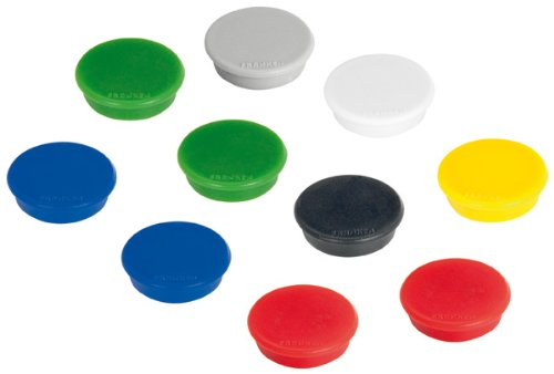 Franken Paquet de 10 Aimants Ronds 13 mm Assorties