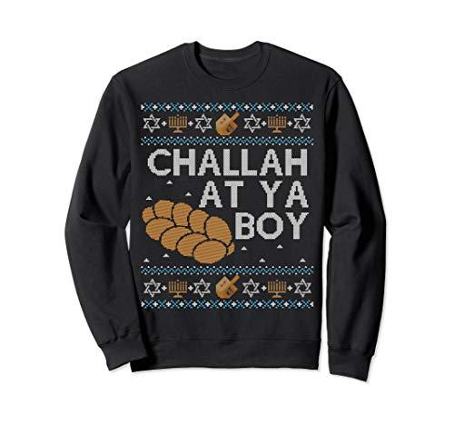 Funny Ugly Hanukkah Sweater Challah At Ya Boy Matching