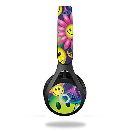 MightySkins Skin Compatible with Beats by Dr. Dre EP Headphones – Peace Smile   Protective, Durable, and Unique Vinyl Decal wrap Cover   Easy to Apply, Remove, and Change Styles   Made in The USA