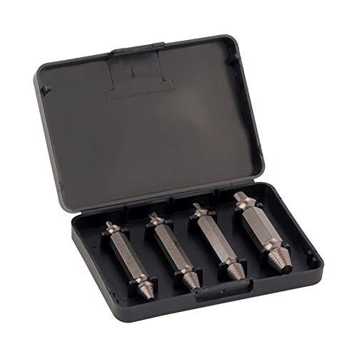Guadang 4pcs Broken Steel velocidad de salida dañado Guía de extractores de tornillos Broca Conjunto Broken perno removedor fácil Conjunto