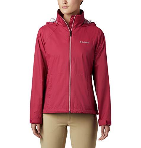 Columbia Damen Switchback III Jacket, Waterproof & Breathable, Packable Regenjacke, Rote Orchidee, Medium