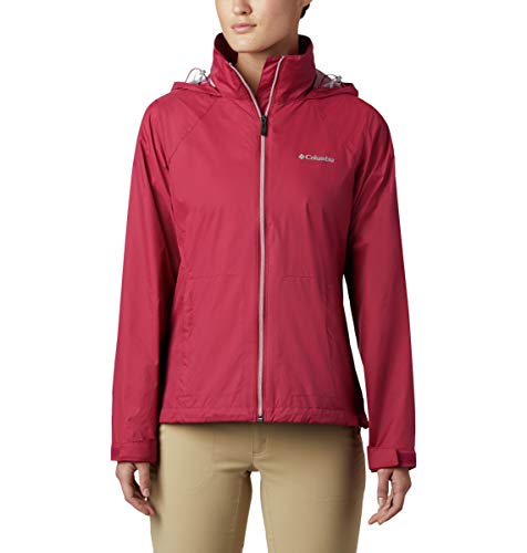 Columbia Women's Switchback III Adjustable Waterproof Rain Jacket, red Orchid, Medium
