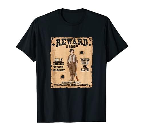 Póster de Wild West Gunslinger Outlaw Wanted Camiseta