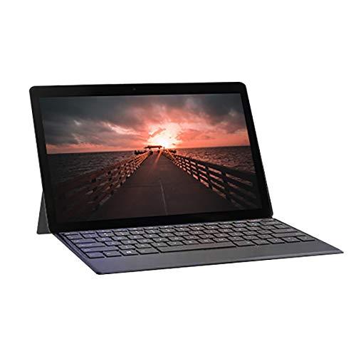 Fltaheroo Tableta PC Pantalla HD de 10 Pulgadas Tabletas para Llamadas TelefóNicas Android Tarjetas SIM Dobles Cen Teclado Desmontable Enchufe Negro