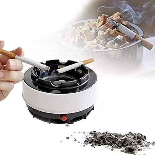 YULINGSTYLE Cenicero Libre De Humo, Cenicero Automático para Fumar, Uso Portátil con Pilas En El Lugar De Trabajo De La Oficina En Casa con Cigarrillos, Puros, Cigarros, Pipas Y Más