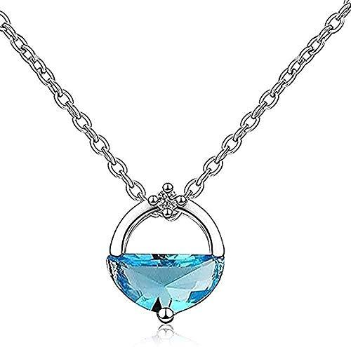 Collar Vintage, collar con pinza, collar, joyería, colgante de cristal para mujer, collar redondo, accesorios de fiesta para niña