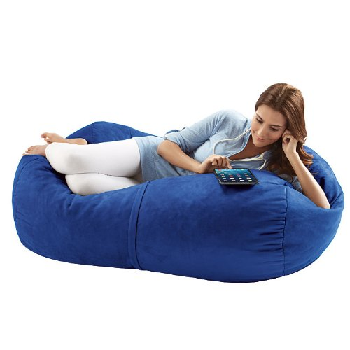 Jaxx Bean Bags Sofa Saxx Bean Bag Lounger, 4-Feet, Blueberry Micro Suede