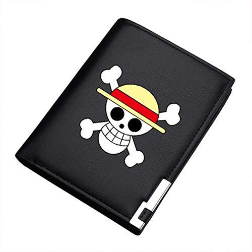 WANHONGYUE One Piece Anime Bifold Brieftasche Kunstleder Schlanke Geldbörse Portemonnaie Herren 14 / A