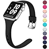 Laffav Sport Band Compatible with Apple Watch 40mm 38mm iWatch Series 5 4 3 2 1 for Women Men, Black, S/M