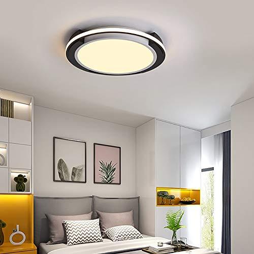 QCSMegy Lámpara de techo LED para dormitorio, lámpara de techo, moderna y minimalista, creativa, para estudio, sala de estar, lámpara de habitación, iluminación ajustable (tamaño: 56 x 6 cm)