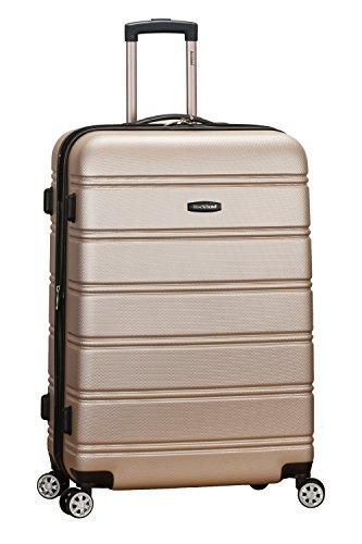 Rockland Melbourne Hardside Expandable Spinner Wheel Luggage, Champagne