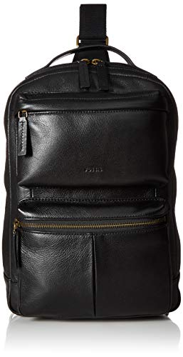 """Price comparison product image Fossil Men's Backpack,  Black,  9.5"""" L x 2.5"""" W x 13.5"""" H"""