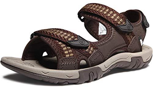 ATIKA Sandalias de senderismo para mujer con sistema de dedos cerrados, ligeras sandalias deportivas adecuadas para caminar, trailing, senderismo, zapatos de agua en verano, color Marrón, talla 40 EU