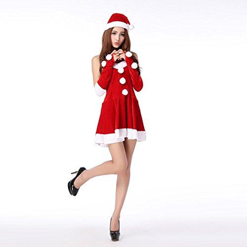 Vestito da T-shirt natalizio delle donne Vestito da sera maschile senza maniche dei costumi di Natale un formato