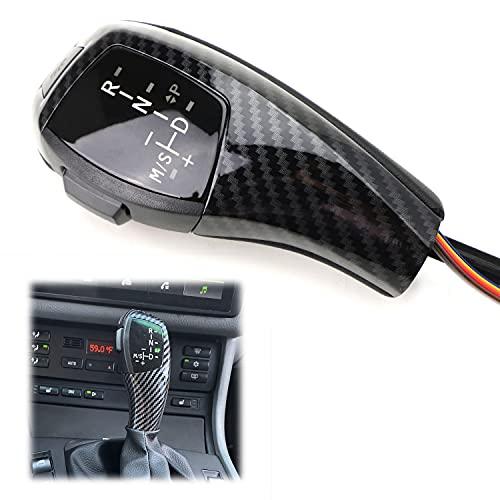 iJDMTOY F30 Style Carbon Fiber Finish LED Illuminated Shift Knob Gear...