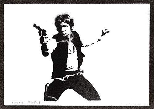 Póster Han Solo STAR WARS Grafiti Hecho a Mano - Handmade Street Art - Artwork