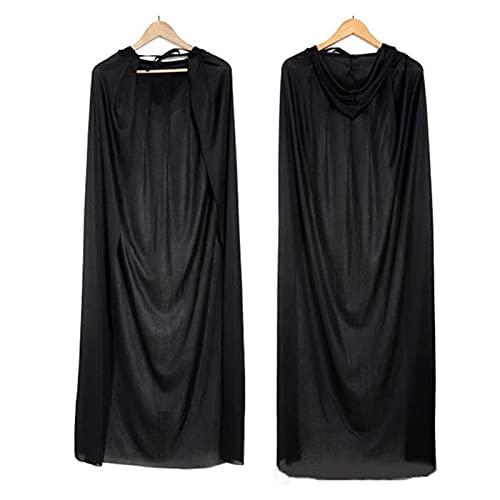 WAYYQX Feliz Halloween Decoracin Adulto Nio Muerte Cabo Pirate Femenino Bruja Cosplay Magic Robe Vampire Disfraz Party Decoratio, Cloak con Capucha (Color : Single-Layer Hooded, Size : 150cm)