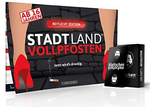 DENKRIESEN - Party Pack - Stadt Land VOLLPFOSTEN ROTLICHT Edition & klattschen - das wahrscheinlich Beste Party Pack Aller Zeiten